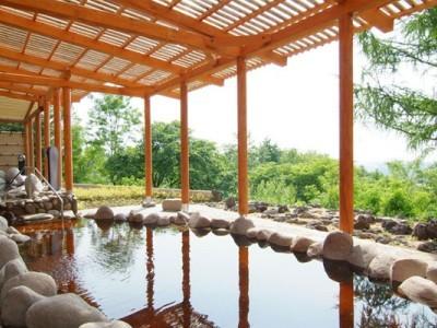 露天風呂付きの宿泊施設もあります。また近くの十勝温泉は宿泊施設から約20分と気軽に行くことができます!希少性の高い植物性温泉特有のお肌にしっとりと馴染むのが特徴なので上がったあとはお肌ツルツルです♪
