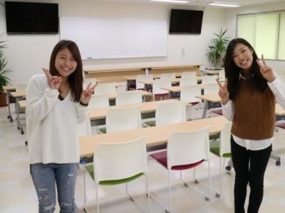 学科教室が広く新しくなりました。