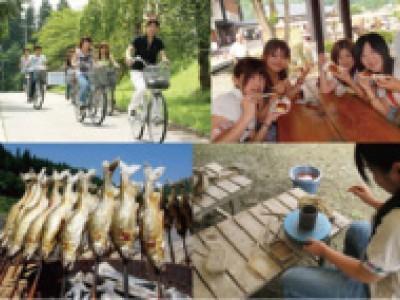 歓迎イベントをはじめ、学校主催のイベントが盛り沢山!また、近隣には温泉施設、ワイン城、日本一の鮎のやな場、陶芸教室、和紙すき体験、そば打ち体験などあり暇を持て余すことはありません。旅行気分で免許取得しちゃいましょう♪