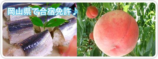 岡山県で合宿免許