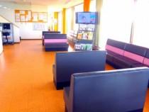 かんばら中央自動車学校の待合室にはたくさんのソファが設置されています。待ち時間を過ごすだけのはずが、居心地がよくてついつい長居してしまうかも?