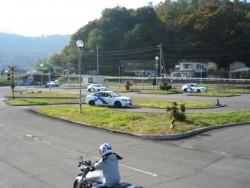 都留市は山々に囲まれており、高速教習では富士山が見られることも。