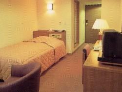 宿泊は、男性は学校の寮、女性は専用の宿舎かホテルです。女性シングルプランのホテルはこんなに広くてキレイ!これなら1人でのんびりできそうです。